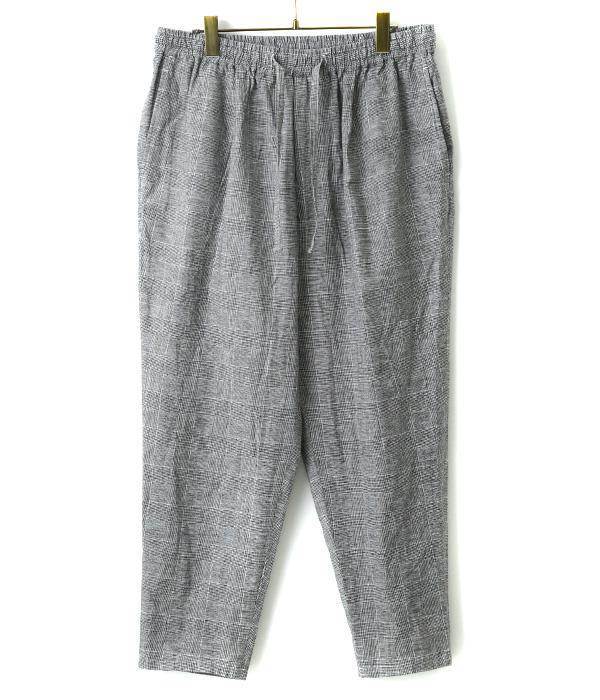 Glen check easy trousers