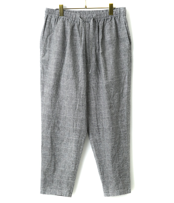 Glen check easy trousers